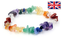 Lapis Lazuli Natural Chip Stone Bracelet elasticated Chakra Reiki Healing UK #68