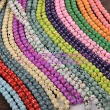 NEW 6mm 8mm 10mm 12mm Multicolor Round Glass Loose Spacer Beads Lot Wholesale