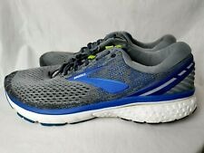 Brooks Men 13 Wide dna Ghost 11 Athletic Trail Running Shoes Sneakers Gray Blue