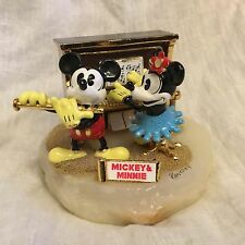 Disney Ron Lee 1994 Mickey & Minnie Mouse MUSIC DUET Figurine Onyx Base