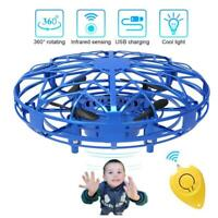 Blaue Mini-Drohnen, um 360 ° drehbare USB-Smart-Mini-UFO-Drohne für Kinder