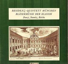RESIDENZ QUINTETT MUNCHEN blasermusik der klassik danzi/stamitz/reicha LP EX+/EX