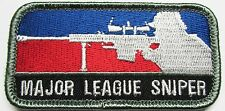 MAJOR LEAGUE SNIPER MILSPEC US ARMY USA MILITARY FULL COLOR MORALE HOOK PATCH