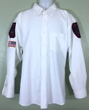 Firefighter Anamosa FD White Button Shirt Uniform Short sleeves Size XL #A18