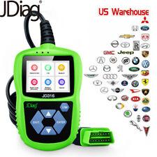 JD316 Automotive OBD2 Code Reader View Battery Scanner Car Fault Diagnostic Tool