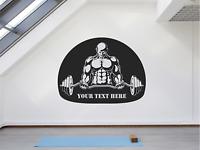 Body Builder Personalised Motivational Gym Window Mirror Sticker Wall Decal Art