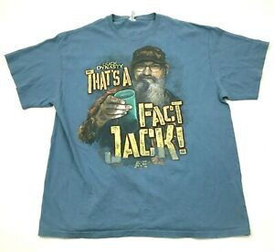 Duck Dynasty Shirt Mens Size Extra Large Short Sleeve Graphic THATS A FACT JACK