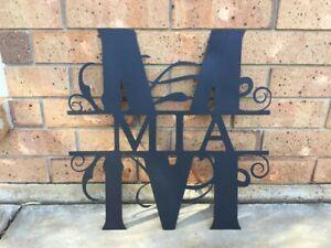 Personalised Split Letter Monogram for Kids Room, any letter, any name. 40cm