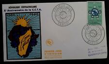 1960 Central African Republic 10th Anniv of A.T.C.C. FDC ties 50F stamp Bangui
