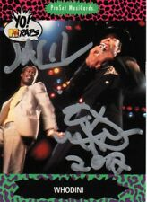 Whodini REAL hand SIGNED hip hop trading card COA by Hutchins & Fletcher