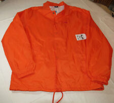 Obey Chaotic Vision Men's jacket wind breaker rain coat M 080 Safety Orange NWT