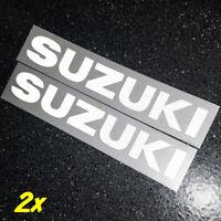 """Suzuki REFLECTIVE White 13"""" 33cm decal 600 sticker gsxr 1000 srad 750 moto gp sv"""