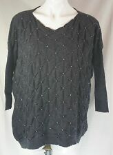 SWEEWE Paris from LF Stores Charcoal Gray Beaded Sweater - One Size - NWT!
