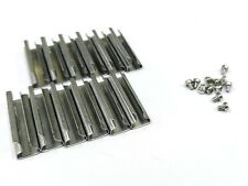 G scale Model Train Stainless Steel Track Rail Joiners (12 pcs ) + 12pcs Screws
