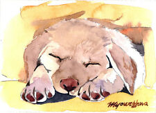ACEO Limited Edition - My puppy, Dog, Art print, Small gift idea