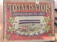 Vintage TOTALISATOR GREYHOUND DOG RACING GAME metal greyhounds and fences