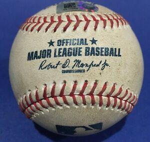 BRAVES ORIOLES GAME USED BASEBALL SEPTEMBER 16 2020 MOUNTCASTLE TOMLIN MLB HOLO