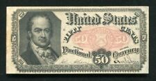 FR. 1380 50 FIFTY CENTS FIFTH ISSUE FRACTIONAL CURRENCY NOTE ABOUT UNCIRCULATED