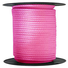"ANCHOR ROPE DOCK LINE 3/8"" X 50' BRAIDED 100% NYLON PINK MADE IN USA"