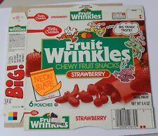 Fruit Wrinkles Fruit Snacks Box vintage 1989