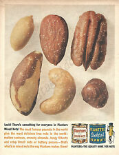 Planters Salted Mixed Nuts Original 1961 Vintage Color Print Advertisement
