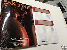 Sargon III Computer Chess Hayden Game Apple II Plus Iie Old Vintage