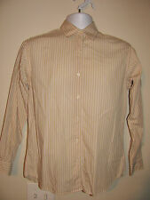 Brooks Brothers Casual Shirt Women's Long Sleeve Size XS Beige Color Striped