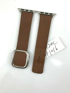 Original OEM Apple Watch Modern Buckle leather Band 38mm 40mm 41MM Brown Large