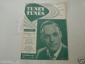 1953 NO 118 TUNEY TUNES MUSIC EDDIE CHRISTIANI COVER,JOS CLEBER AVRO ZAAIERS,SHO