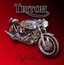 TRITON CAFE RACER METAL JUMBO FRIDGE MAGNET,ENAMELLED FINISH.RETRO.