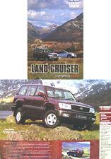 Toyota Land Cruiser Colorado Amazon EX GX VX 1998-99 Original UK Sales Brochure