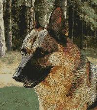 "German Shepherd Alsation Cross Stitch Kit 12"" x 13.5"" 30.7cm x 34.5cm D2343"