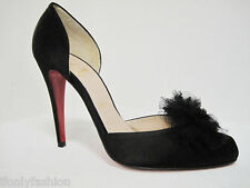 Christian Louboutin BIBA FROU100 Satin Lace Shoes 41