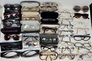 Dealer Lot (32) Retro Eyeglasses & Frames mostly RX & Sunglasses & True Vintage