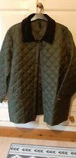 Mens Barbour Quilted Jacket with Corduroy Collar, Green, Size: XL
