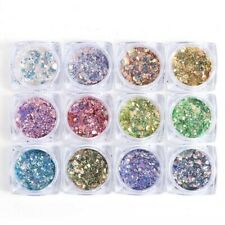 Nail Art Glitter Powder Dust for UV Gel Acrylic Nails Sequins Tips yj974