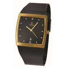 Obaku Ingersoll V102GGBMB Men's Dress Watch Gold-Black Ion-plated SS