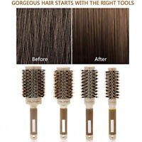 New Thermal Ceramic Ionic Round Barrel Hair Brush with Boar Bristle Hair Comb