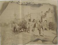 Siria Damas Calle Sanjakdar Calle Animada Ruinas Foto Vintage Citrato 8x10, 3 CM