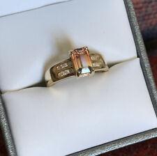 Beautiful Natural Genuine Ametrine Diamond 14k Solid Yellow Gold Ring