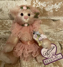 New Annette Funicello collectible Bear, pink Mary Kate Bear Limited Edition 2045