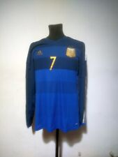 Argentina soccer jersey Adidas 2013/2014 Size 8 long sleeve match issue Di Maria