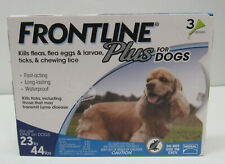 New listing Frontline Plus Dog Flea and Tick Medium Breed Dog Treatment 23 to 44 lbs 3 Doses