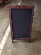 Sidewalk A Frame Display Sign Dark Stain Frame Black Chalkboard 18 X 29 Inches