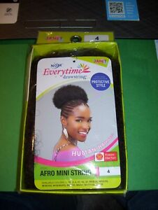 Brand New in Box Every time Janet Afro mini String Color 4 Synthetic weave Black
