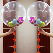 "2Pcs 24"" Clear PVC Balloon DIY Confetti Birthday/Wedding Party Decor Romantic"