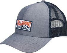 BILLABONG MENS BASEBALL CAP.NEW WALLED TRUCKER CURVED PEAK BLUE MESH HAT 8W 1 12