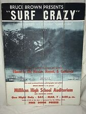 Miliken High School Bruce Brown Surf Movie Wood Sign 18x14 Ready To Hang
