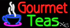 "BRAND NEW ""GOURMET TEAS"" 32x13 LOGO REAL NEON SIGN W/CUSTOM OPTIONS 11220"