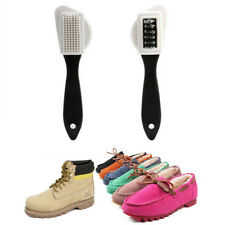 Hot Chic 3 Side Cleaning Brush For Suede Nubuck Boot Shoes S Shape Shoe Cleaner